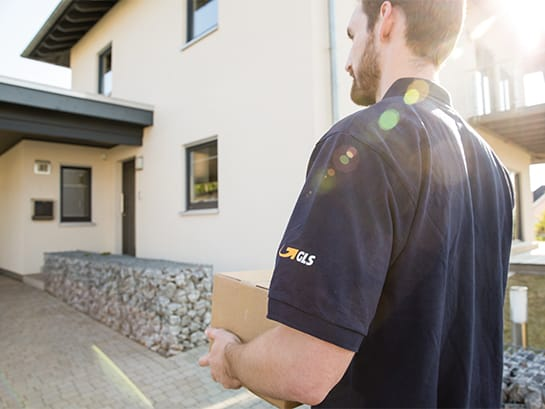 Issue general drop off permission – a delivery man from GLS brings parcel to a house